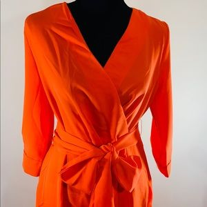 Orange dress with Tie
